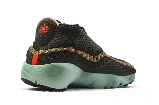 Nike Air Footscape Woven Brown Mint Heel Quarter Inner 1