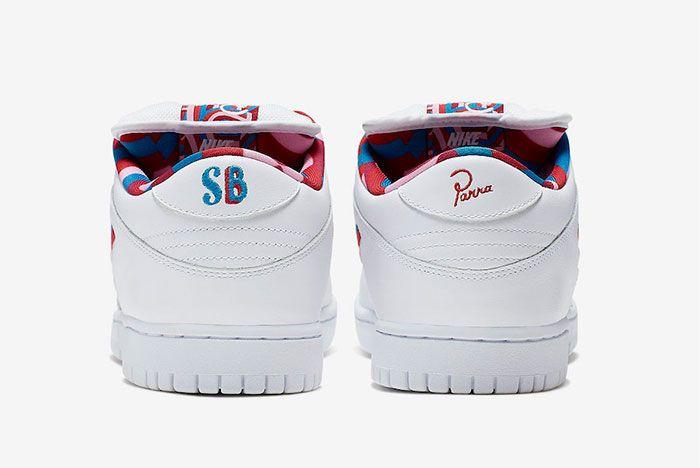 Parra Nike Sb Dunk Low Heel