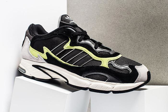 Adidas Temper Run Black Grey Neon 1