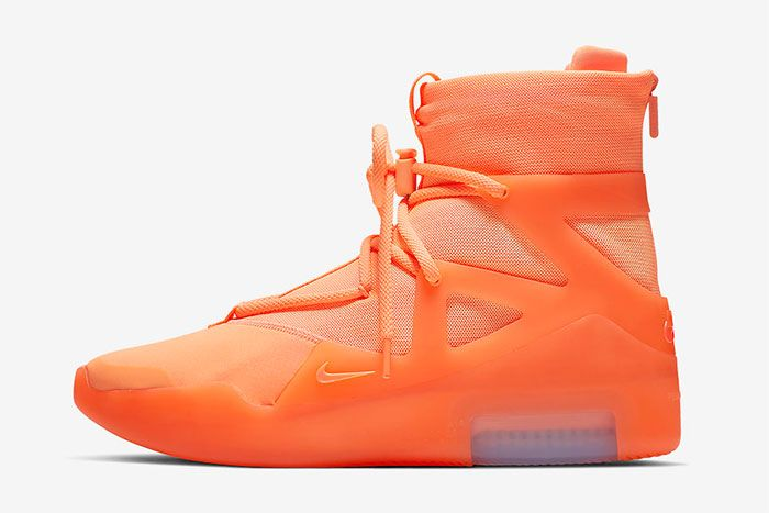 Nike Air Fear Of God 1 Orange Pulse Left