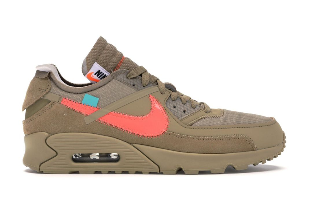 Off White Nike Air Max 90 Desert Ore Aa7293 200 Lateral