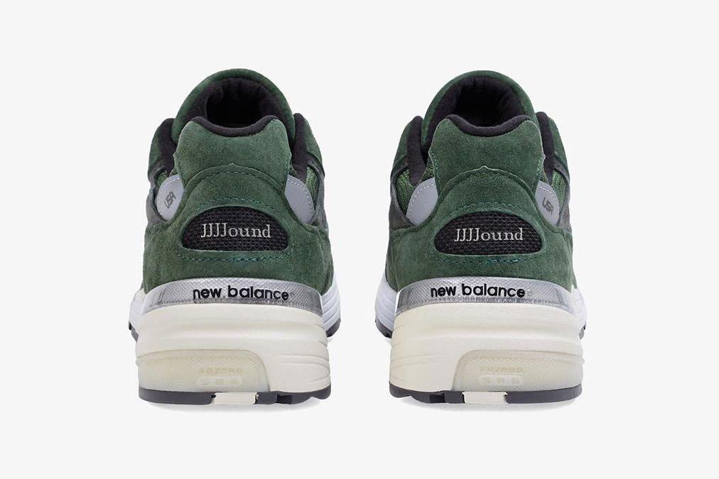 JJJJound New Balance 992 Green Heel