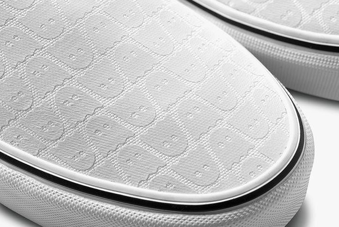 Ghstly Vans Slip On White Toe Detail