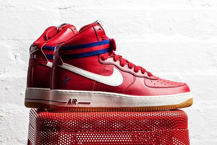 Nike Af1 High 07 Red 1