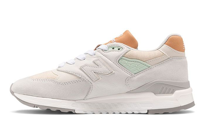 New Balance 998 White Tan Left