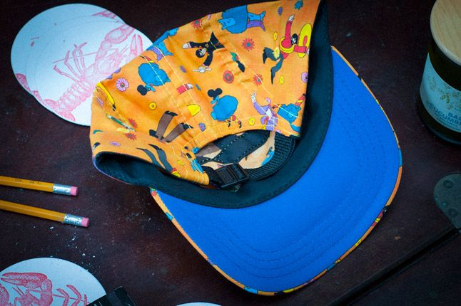 Skulls Yellow Submarine 5 Panel Inside 1