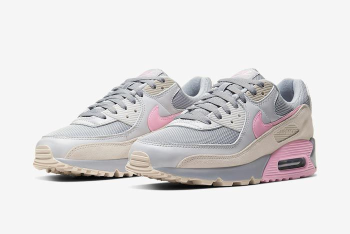 Nike Air Max 90 Grey Grey Pink Pair