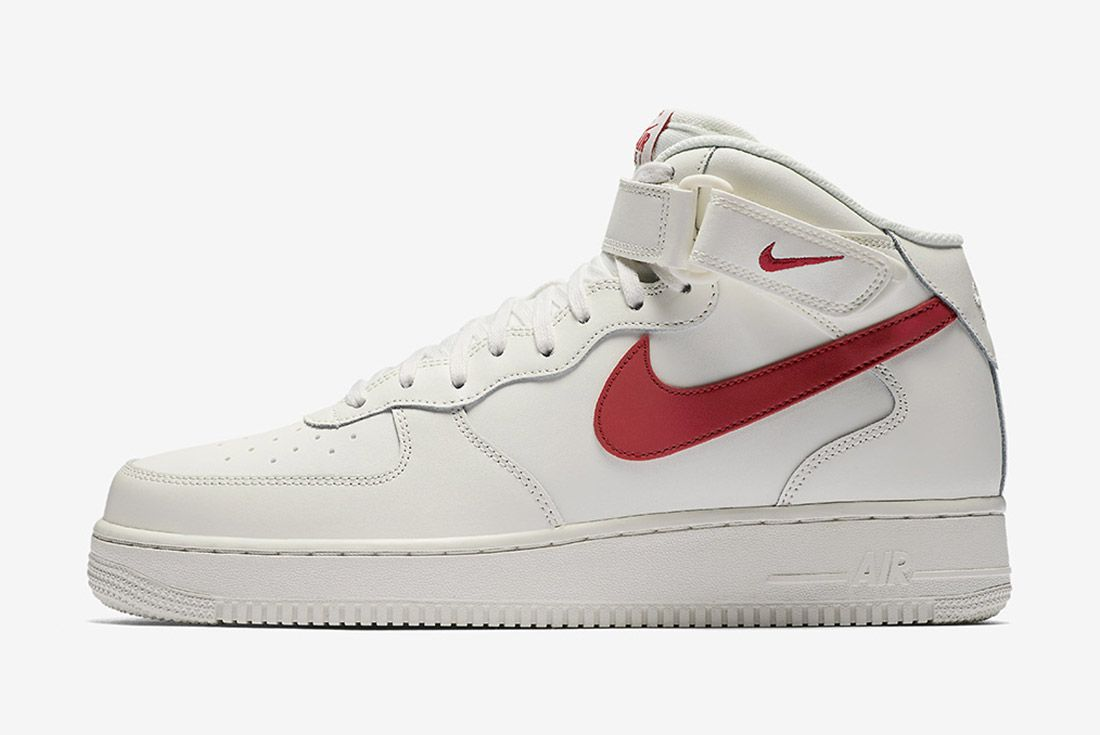 Nike Air Force 1 Mid 07 Sail University Red 5