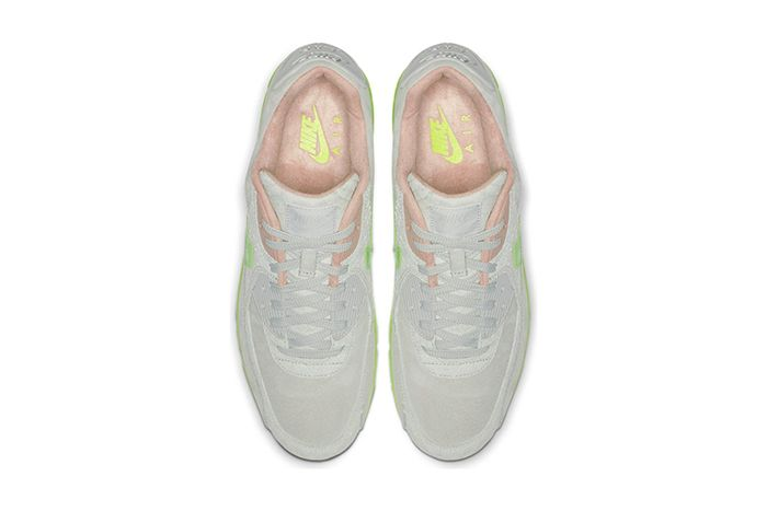 Nike Air Max 90 Snake Pure Platinum Electric Green Bio Beige Ck0902 001 Release Date Top Down
