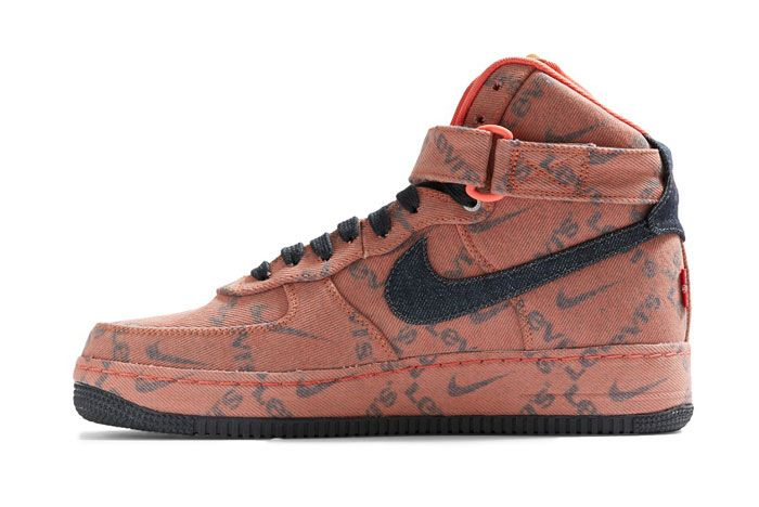 Levis X Nike Air Force 1 Mid Lateral Side