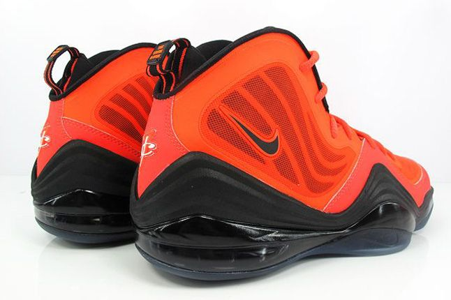 Nike Air Penny V Crimson Black Heels 1