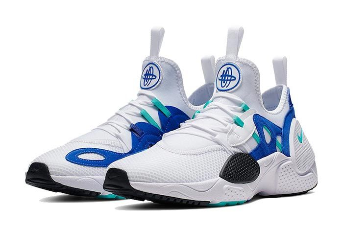 Nike Huarache Edge Txt White Blue Three Quarter Shot
