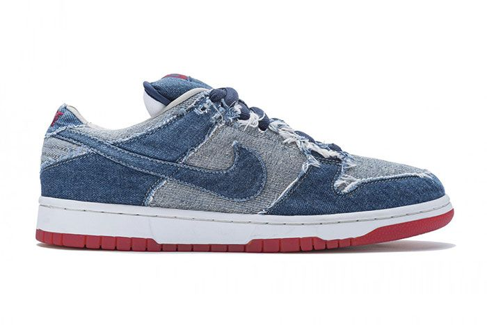 Nike Sb Dunk Low Pro Reese Denim Lateral Side