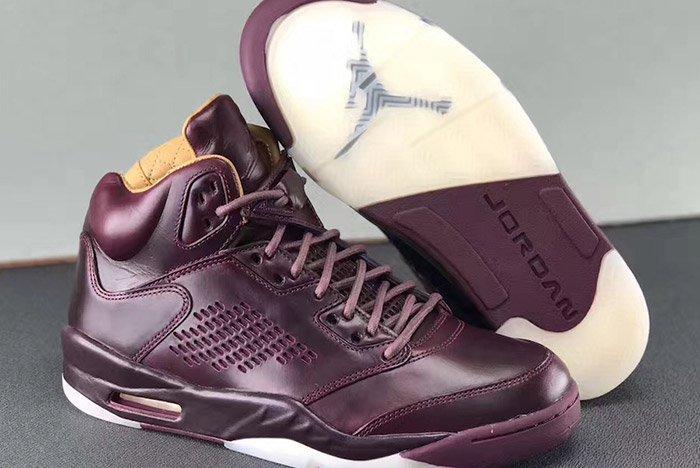 Air Jordan 5 Premium Bordeaux Oxblood Leather 2