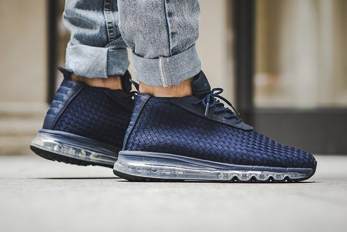 Nike Air Max Woven Boot Midnight Navy Blue 3