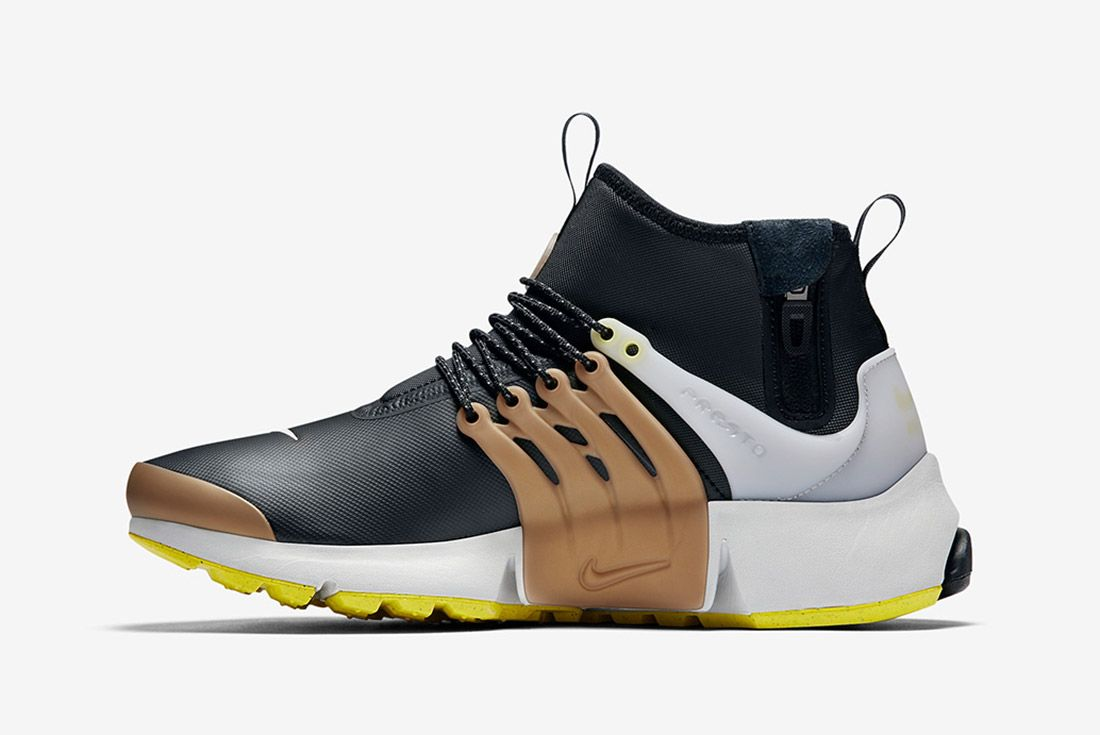 Nike Air Presto Utility Mid Black Yellow Gold 3