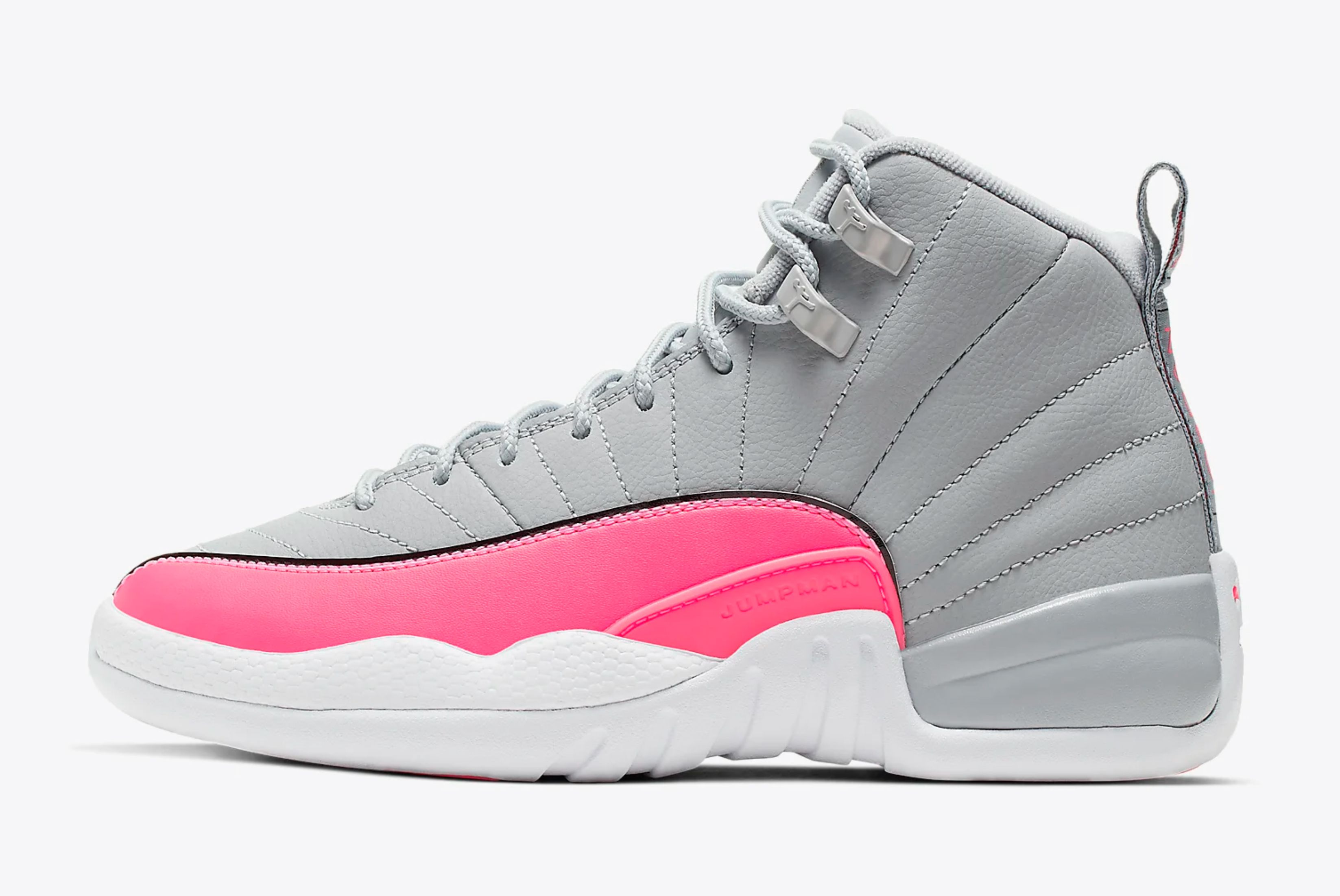 Air Jordan 12 GS (Wolf Grey/Racer Pink)
