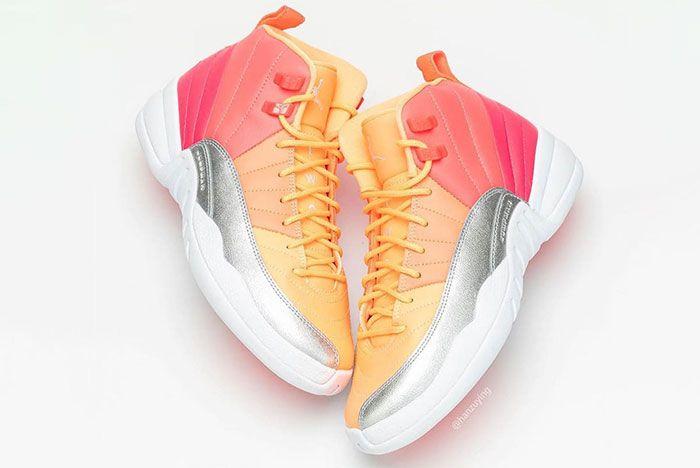 Air Jordan 12 Gs Hot Punch 510815 601 Release Date Pricing 2 Pair