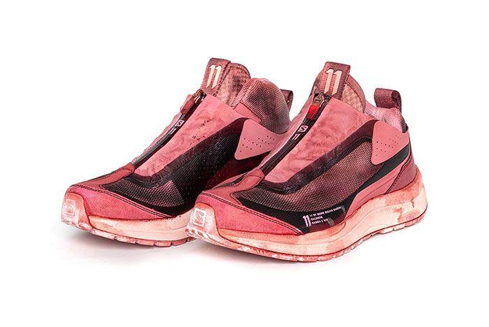 11 By Boris Bidjan Saberi X Salomon Spring Summer 2020 Footwear Red Drip Low Three Quarter Lateral Side Shot