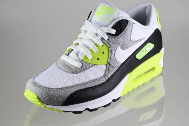 Nike Air Max 90 Black White Medium Grey Volt 2