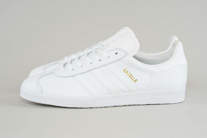 Adidas Gazelle Triple White 2