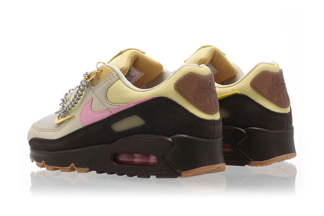 Nike Air Max 90 Velvet Brown Heel