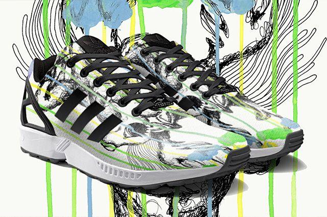 Zx Flux Set To Hit Mi Adidas With Photo Print Option 6