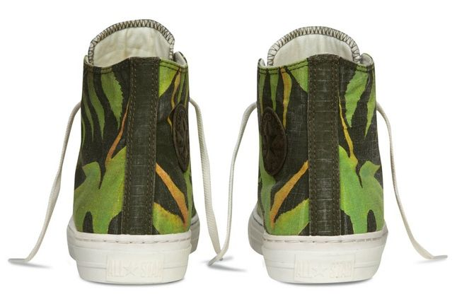Converse Allstar Chukc Specialty Hawaiian Print Green Heel Profile 1