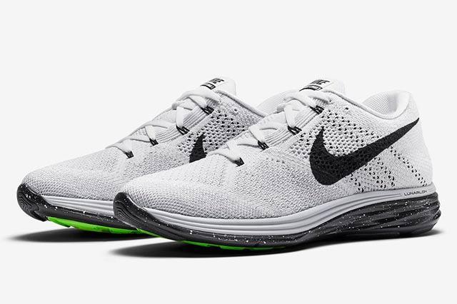 Nike Flyknit Lunar 3 White Black 1