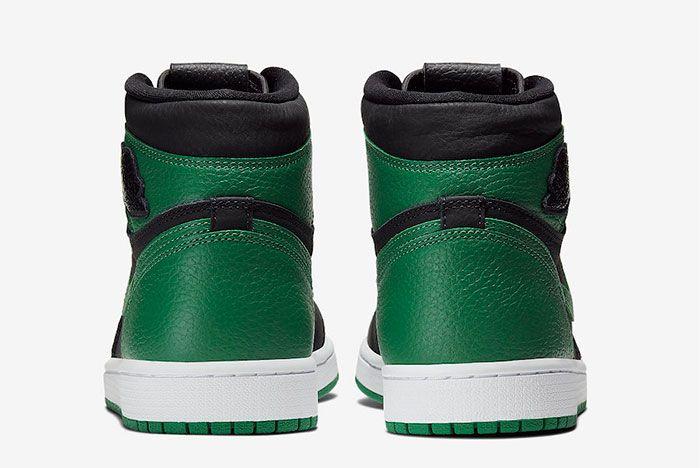Air Jordan 1 High Pine Green Heel