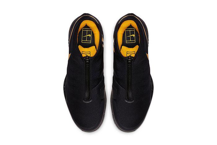 Nike Air Zoom Vapor X Glove Black Gold Aq0568 001 Release Date Top Down