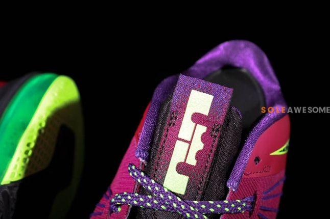 Nike Lebron X Low Pnkpurp Neongrn Tongue Detail 1