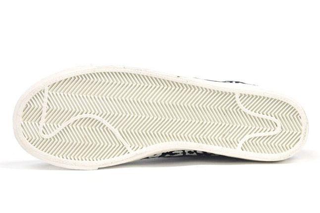 Nike Blazer Mid Black Leopard Sole 1