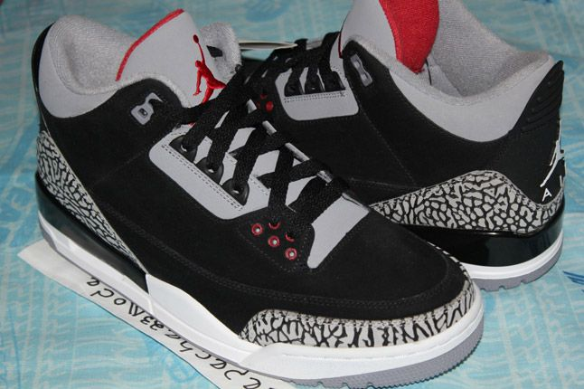 Air Jordan 3 Black Cement Suede Sample 07 1