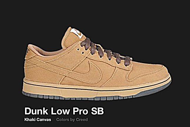 Nike Dunk Sb Low Canvas Khaki Creed 2004 2