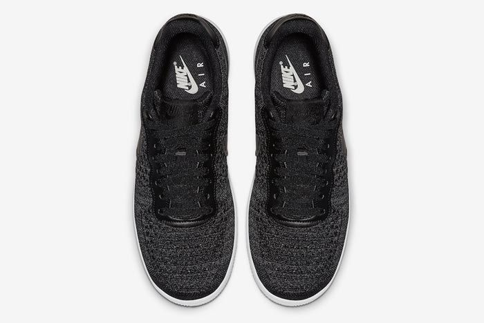 Nike Air Force 1 Flyknit 2 0 Black White Top