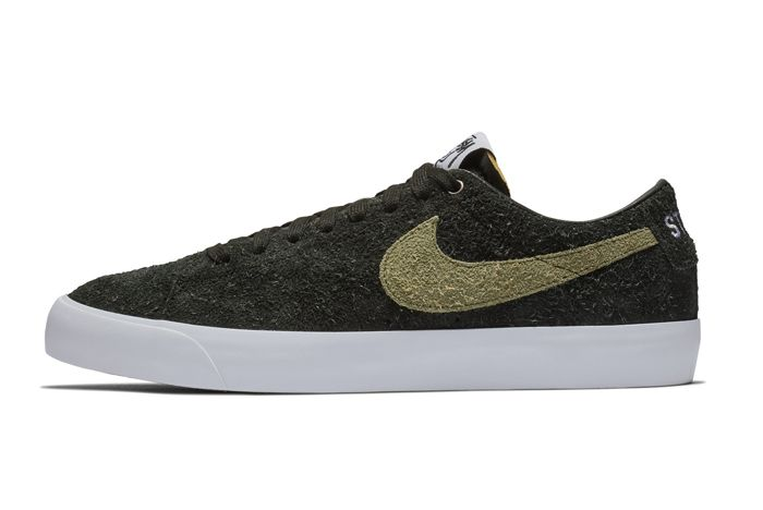 Stussy Nike Sb Terps Blazer Low Lateral Side