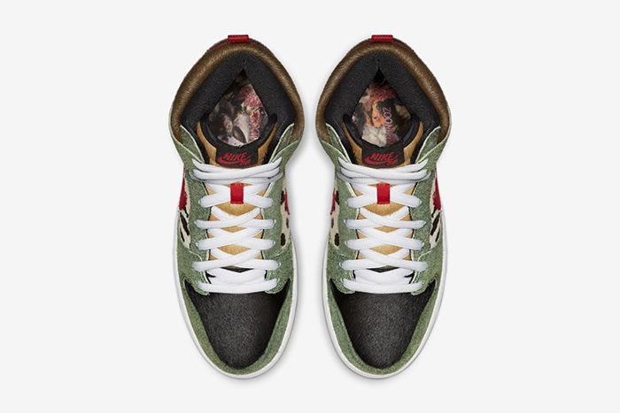 Nike Sb Dunk High Walk The Dog Bq6827 300 Release Date Top Down