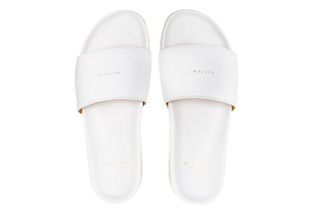 Buscemi Calfskin Leather Slides 10