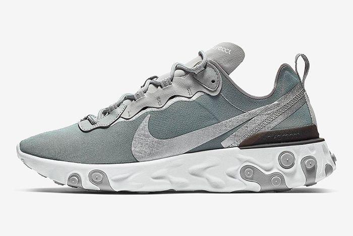 Nike React Element 55 Metallic Silver 1