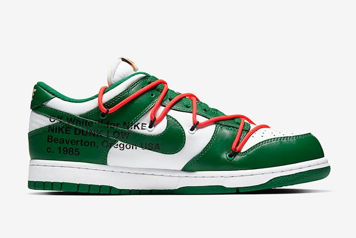 Off White Nike Dunk Low White Green Ct0856 100 Medial