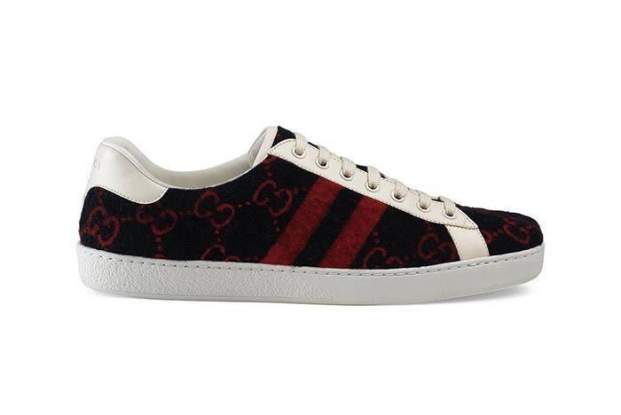Gucci Gg Wool Sneaker 1