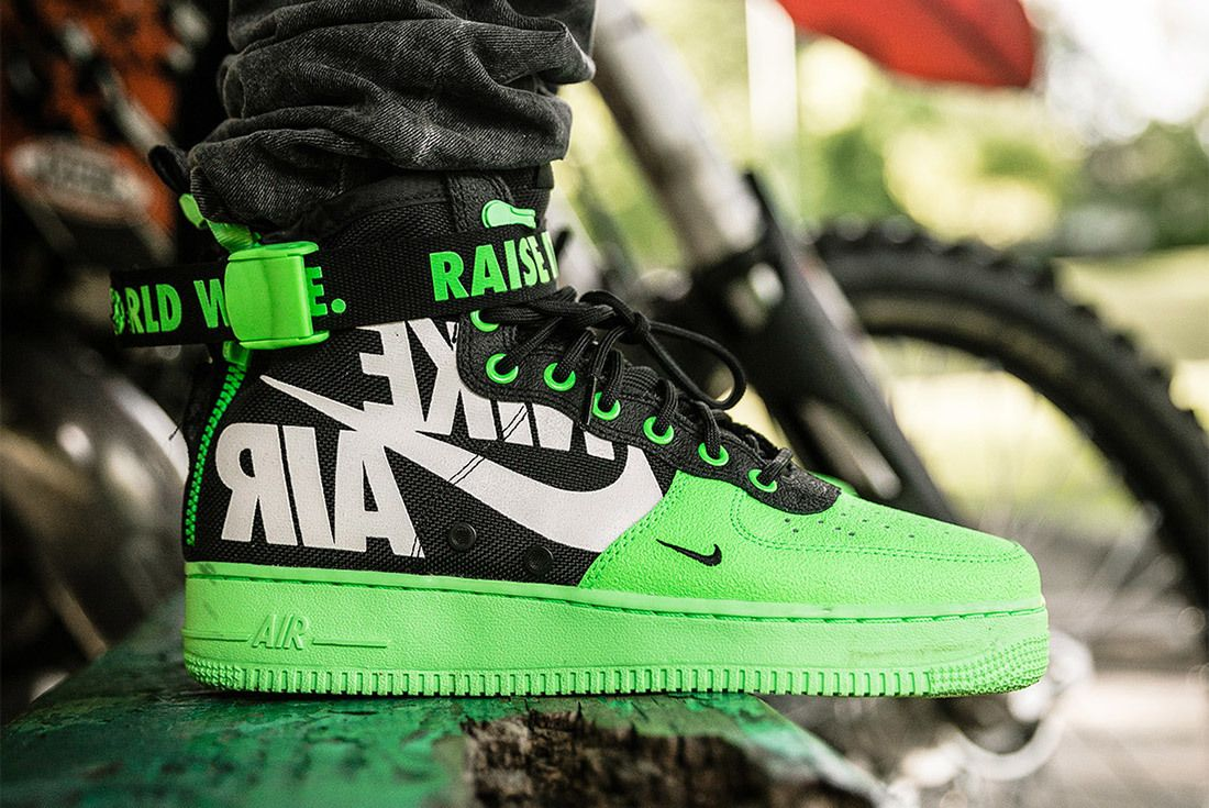 Nike Sf Af1 Mid 12 O Clock Boys Green 2