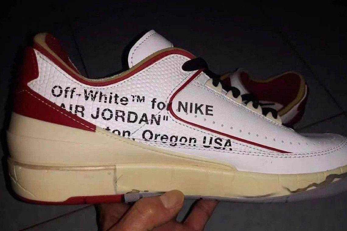 Off-White x Air Jordan 2 Low leak