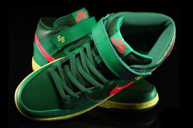 Nikesb Dunk Mid Pro Luck Green 6