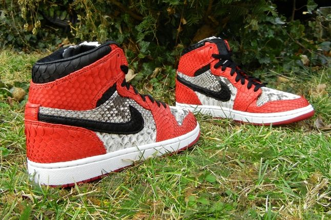 Jfb Customs Snakeskin Aj1 Red Pair Hero 1