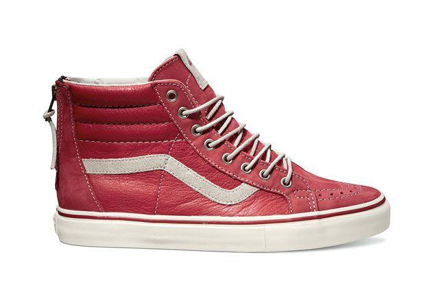 Vans Sk8 Hi Zip Lx Red Sideview