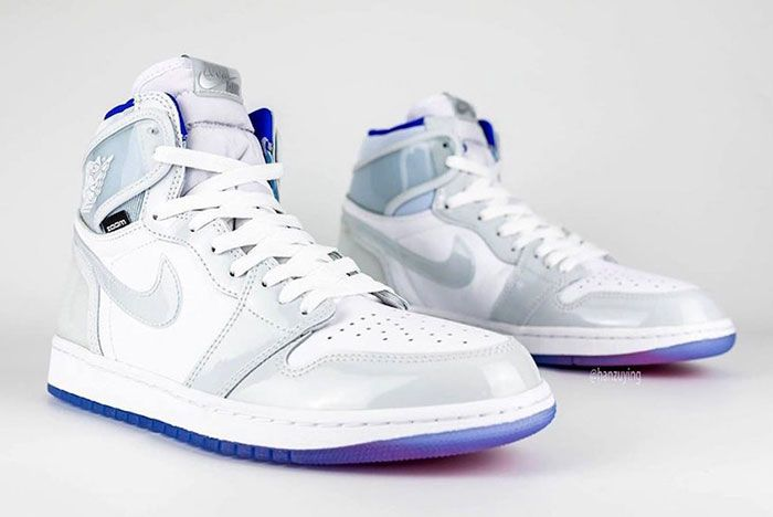 Air Jordan 1 High Zoom R2 T White Racer Blue Ck6637 104 Right Front Angle