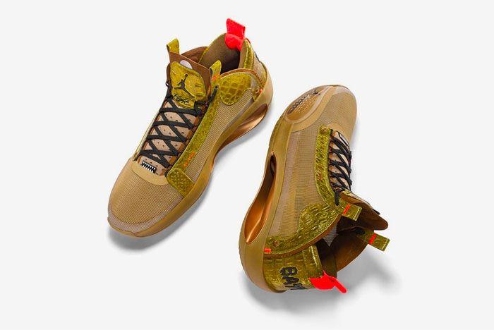 Air Jordan 34 Bayou Boys Heel Long