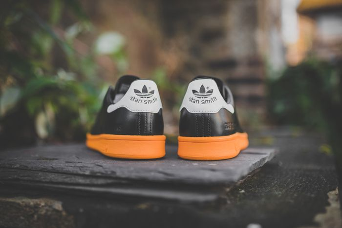 Raf Simons X Adidas Stan Smith Black Bright Orange 2